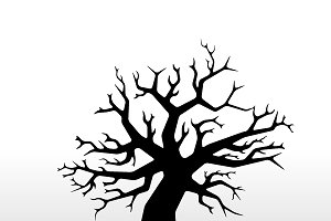 Black gothic tree with branches