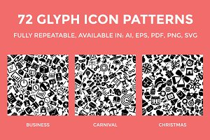 72 Glyph Icon Patterns