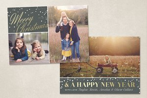 Christmas Card Template CC075