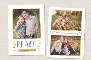 Christmas Card Template CC070