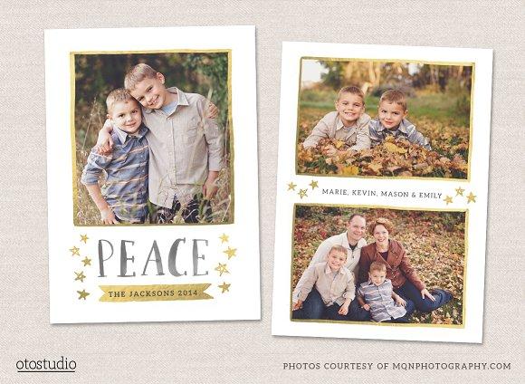 Christmas Card Template CC070