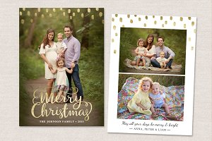 Christmas Card Template CC096