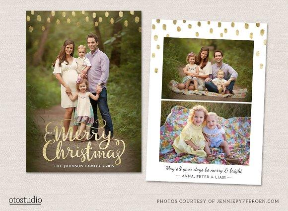 Christmas Card Template CC096