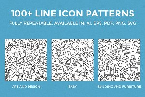 100+ Line Icon Patterns