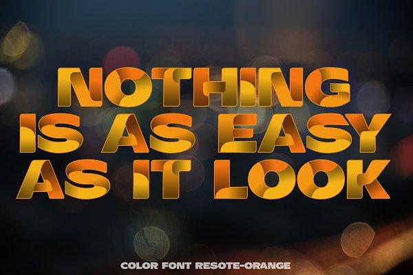 Color fonts ResotE-Fruits