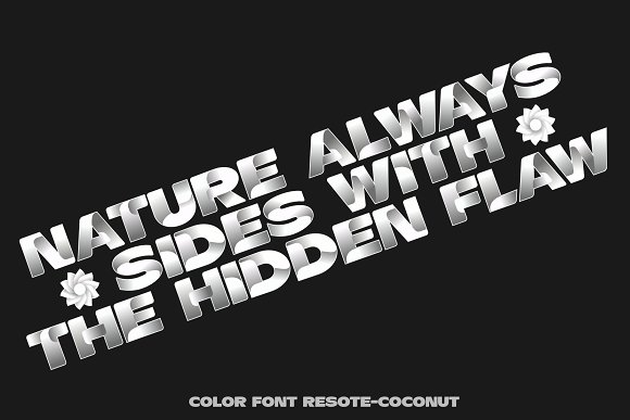 Color fonts ResotE-Fruits in Display Fonts - product preview 2