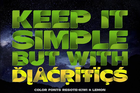 Color fonts ResotE-Fruits in Display Fonts - product preview 3