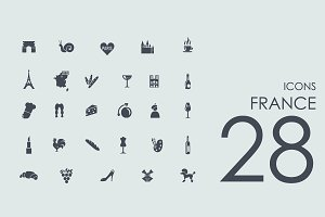 28 France icons
