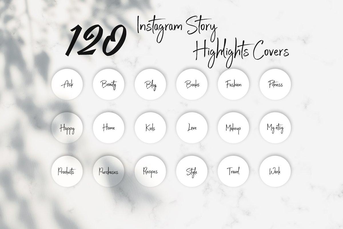 White Instagram Highlight Covers