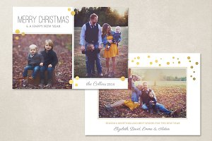 Christmas Card Template CC066