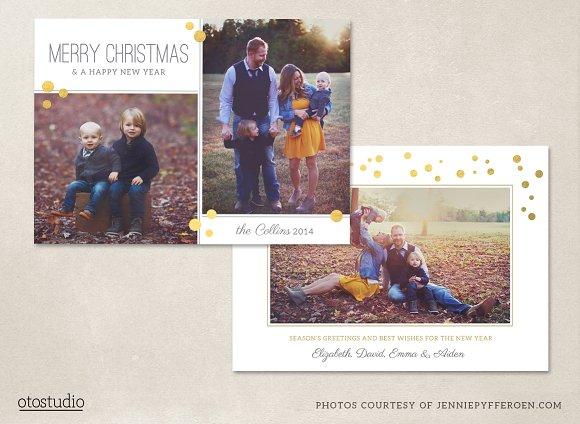 Christmas Card Template CC066