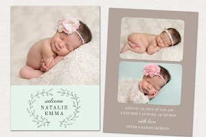 Birth Announcement Template CB032