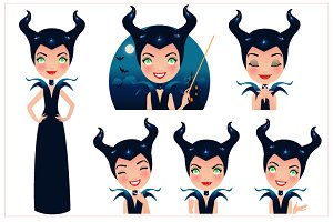 Maleficent Vector Set