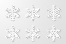 Set of decorative snowflakes