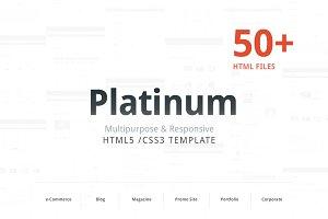 Platinum – Responsive HTML template