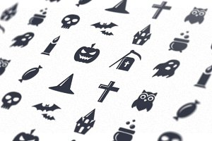 Simple Halloween icons