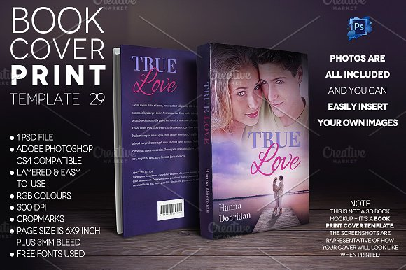 Book Cover PRINT Template 29