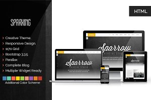 Sparking | Creative Landing Template