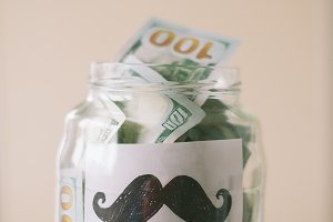 Money Jar for Movember cause