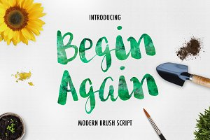 Begin Again Brush Typeface
