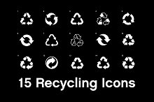 15 Recycling Icons
