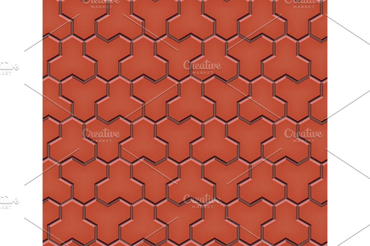 Seamless pattern of trihex