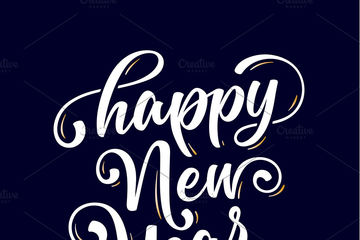 Happy New Year Lettering 57