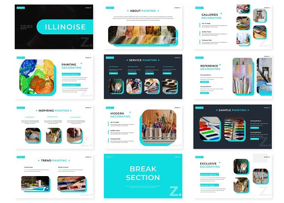 Illinoise - Powerpoint Template in PowerPoint Templates - product preview 1