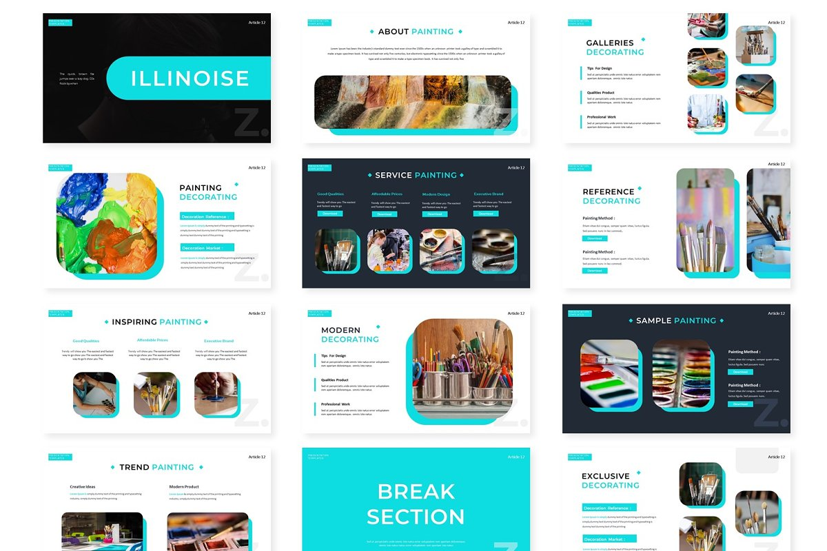 Illinoise - Powerpoint Template in Presentation Templates - product preview 1