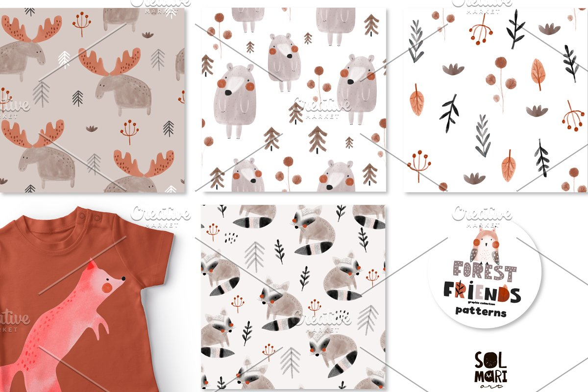FOREST FRIENDS graphic collection