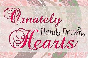 Ornately Hand-Drawn Hearts
