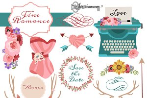Romantic Clipart and Vectors
