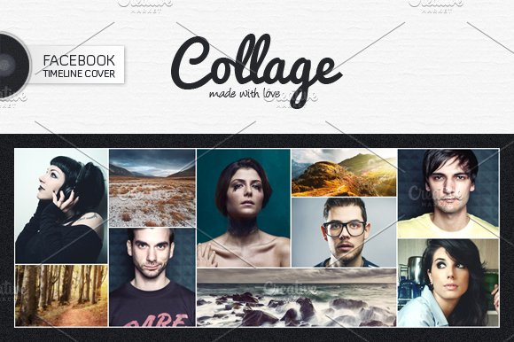 Book Cover Collage Maker : Facebook timeline cover v templates creative