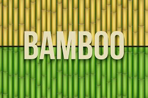Set of Bamboo background textures