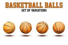 Set of Basketball Ball. Vector+JPEG
