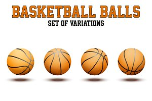 Set of Basketball Ball. Vector+JPEG