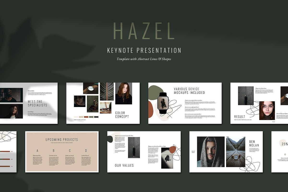 HAZEL Keynote Template in Keynote Templates - product preview 8