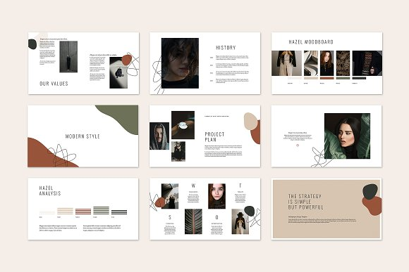 HAZEL Keynote Template in Keynote Templates - product preview 4