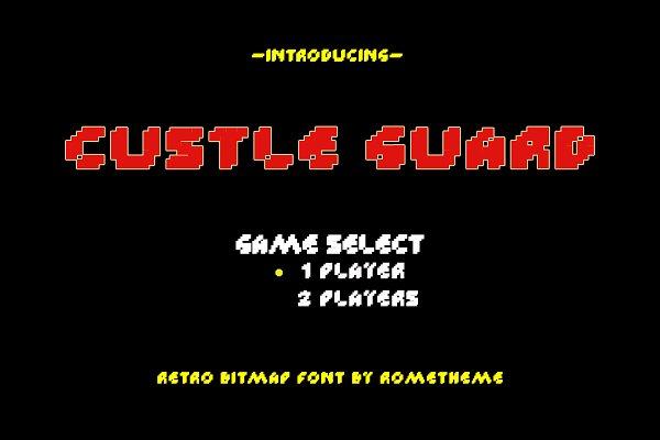 Custle Guard - Retro Bitmap Typeface