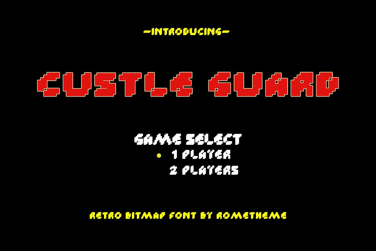 Custle Guard - Retro Bitmap Typeface in Display Fonts - product preview 8
