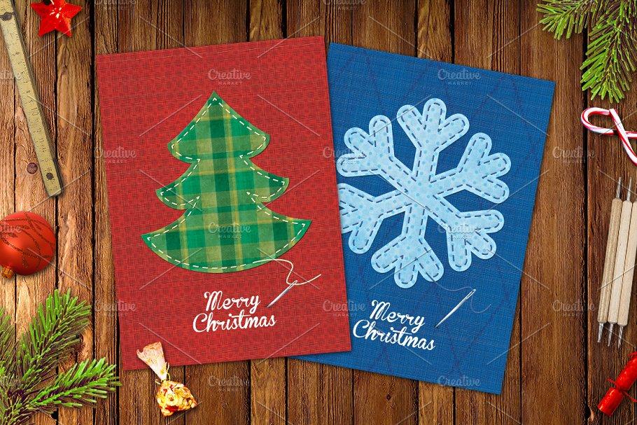 Christmas Fabric Greeting Cards