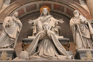 Sculpture in St Peter's Basilica