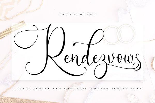 Rendezvouws | Modern Script Font