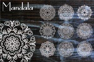 10 Mandala Henna Tattoo Ornaments