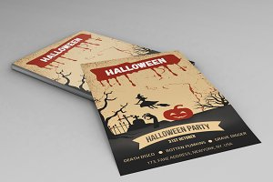 Halloween Party flyer template-V97