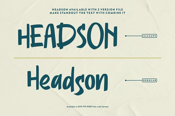 Headson - Display Font in Display Fonts - product preview 4