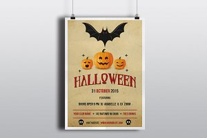 Halloween flyer template-V98