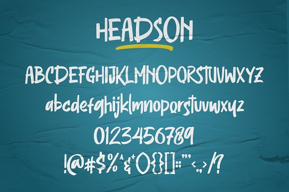 Headson - Display Font in Display Fonts - product preview 7