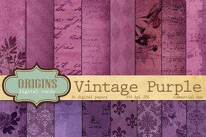 Vintage Purple Digital Paper