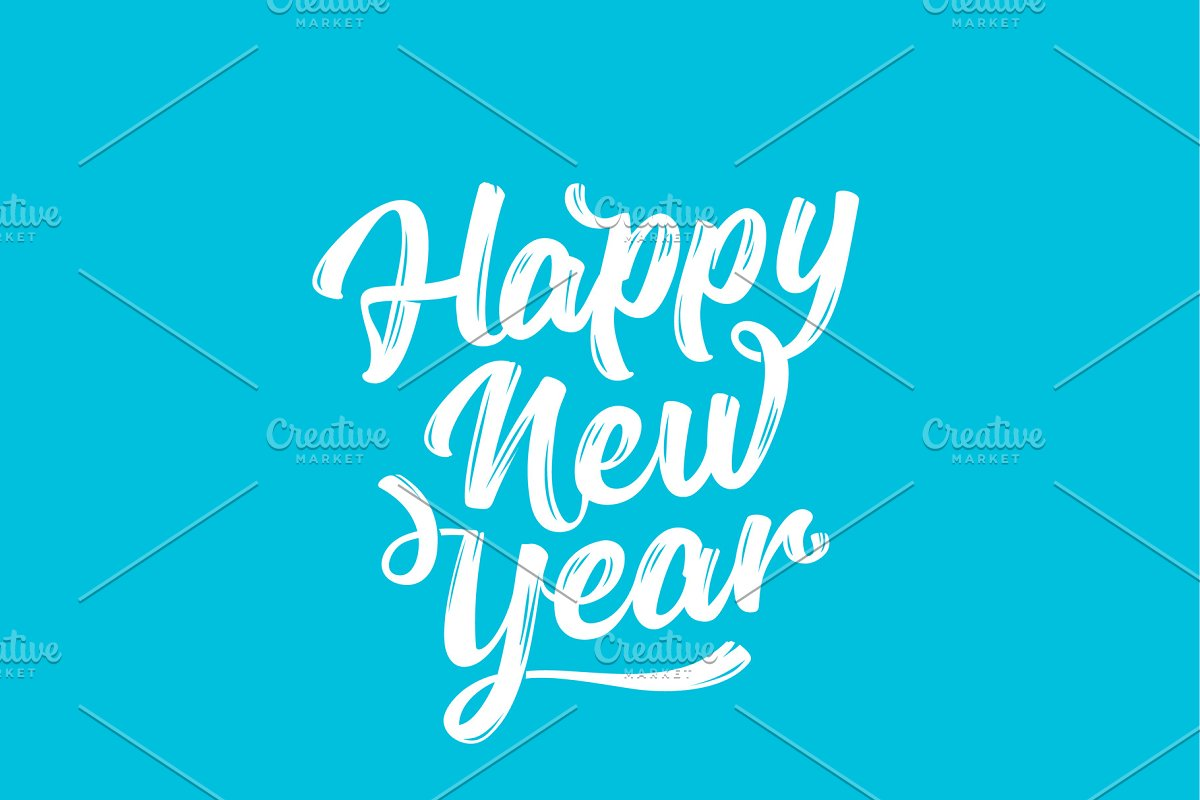 Happy New Year Lettering 41